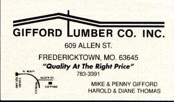 Gifford Lumber Co. Fredericktown, MO USA