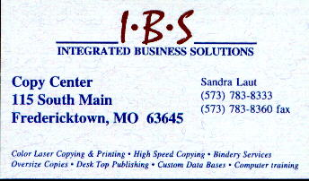Integrated Business Solutions, copies, color laser, desktop publishing Fredricktown, MO USA